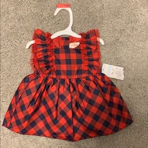 Cat & Jack red plaid dress
